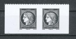 """1849-2019   -  Carnet   """"L'affranchissement"""" - Paire De Cérès Noire - France"""