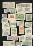 Lot De Timbres Fiscaux Sur Fragment  Voir Sur 2 Scans - Stamps