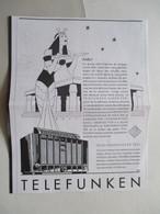 Radio à 12 Lampes TELEFUNKEN 7001    - Ancienne Coupure De Presse De 1938 - Littérature & Schémas