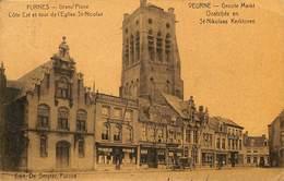 CPA - Belgique - Veurne - Furnes - Grand'Place Et Eglise St. Nicolas - Veurne