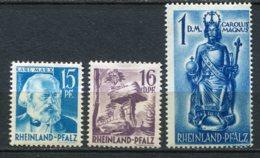 16761 ALLEMAGNE (Occupation Française) Rhéno-Palatin  N°20, 25, 29 *    1948   TB - Zone Française