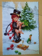 KOV 506-4 - PIG, SWINE, PORC, NEW YEAR, Bonne Annee, Champignon, Mushroom, RAMONEUR, CHIMNEY SWEEP, Cochon - Maiali