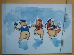 KOV 506-4 - PIG, SWINE, PORC, NEW YEAR, Bonne Annee, TAMBOUR, DRUM, Cochon - Maiali