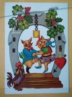 KOV 506-4 - PIG, SWINE, PORC, NEW YEAR, Bonne Annee,, Cochon - Maiali