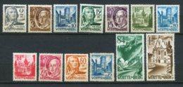 16762 ALLEMAGNE (Occupation Française) Wurtemberg  N°1/13**    1947-48   TB - Zone Française