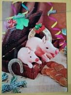 KOV 506-4 - PIG, SWINE, PORC, NEW YEAR, Bonne Annee, Champignon, Mushroom,, Cochon - Maiali