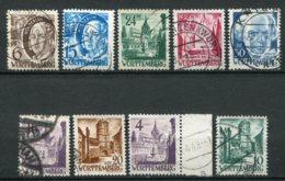 16768 ALLEMAGNE (Occupation Française) Wurtemberg  N°15, 18/21, 23/4, 29, 33°     1948-49   TB - Zone Française