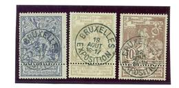 Belgique - COB 71/73 Obl Bruxelles Exposition - 1894-1896 Expositions