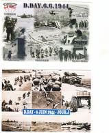 85  CARTES SUR LES PLAGES DU DEBARQUEMENT   EN NORMANDIE - Cartoline