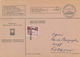 [A5] Postdienstsache - Nachgesandte Briefpost - Vereinte Nationen Genf 1955 - Nachgebühr (Marke Beschädigt) Taxe: 20 C. - Zwitserland