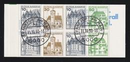 """Markenheftchen """"Burgen Und Schlösser 1980"""" MiNr. MH 22 II K 3 OZ , LETTERSET, Gestempelt - Markenheftchen"""