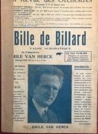 (124) Partituur - Partition - Bille De Billard - Emile Van Herck - Partitions Musicales Anciennes