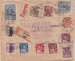 """TCHECOSLOVAQUIE : PAR EXPRESS . REC . DE """" NUSLE """" . POUR LA FRANCE . 1921 . - Tchécoslovaquie"""