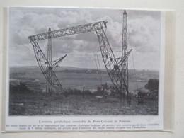 PONTOISE - Antenne Parabolique Poste  TSF Colonial  Emetteur  Pour L'Indochine  - Ancienne Coupure De Presse De 1935 - Littérature & Schémas
