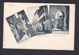 Siena Multivues Via Della Galluzza Casa Di S. Caterina Arco Di S. Giuseppe  (Ed. Sadun Ref 40402) - Siena