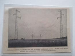 ORLEANS - Ligne D' Electrification Du Chemin De Fer  Eguzon-Paris  - Ancienne Coupure De Presse De 1935 - Chemin De Fer