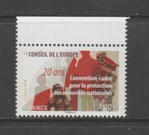 FRANCE / 2018 / Y&T SERVICE N° 173 ** : CONSEIL (Protection Des Minorités Nationales) X 1 BdF Haut - Dienstzegels