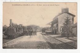 SAINT GERMAIN EN COGLES - LA GARE - ARRIVEE DU TRAIN DE FOUGERES - 35 - Otros Municipios