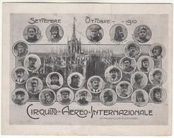AEREO PLANE CIRCUITO AEREO INTERNAZIONALE SETTEMBRE OTTOBRE 1910 CHAVEZ - CARTOLINA ORIGINALE - ....-1914: Precursori