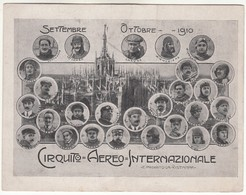 AEREO PLANE CIRCUITO AEREO INTERNAZIONALE SETTEMBRE OTTOBRE 1910 CHAVEZ - CARTOLINA ORIGINALE - ....-1914: Précurseurs