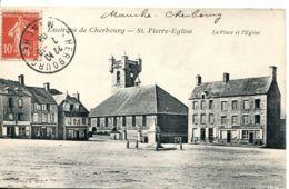 N°3386 T -cpa Saint Pierre Eglise -la Place- - Saint Pierre Eglise