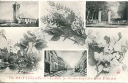 N°3387 T -cpa De Saint Pierre Eglise Je Vous Envoie Ces Fleurs- Multivues- - Saint Pierre Eglise