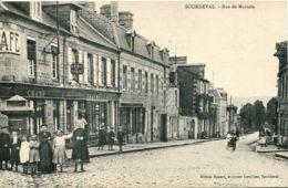 N°3393 T -cpa Sourdeval -rue De Mortain- - Other Municipalities