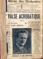 (129) Partituur - Partition - Valse Acrobatique - Emile Van Herck - Bal Musette - Partitions Musicales Anciennes