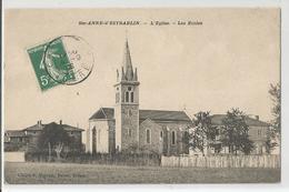 38 Isère Sainte Anne D'estrablin L'église Les écoles 1908 - Altri Comuni