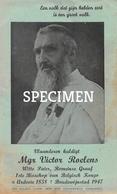 Kaart/pamflet  Mgr Victor Roelens Witte Pater - Ardooie 10,5 X 17,5 Cm - Ardooie