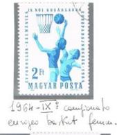 UNGHERIA (HUNGARY) -  SG 1989  - 1964 EUROPEAN BASKETBALL CHAMPIONSHIP   - USED - RIF.CP - Ungheria