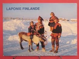 Visuel Pas Très Courant - Finlande - Laponie - Rennes - Poromiehen Majatalo Lehtovaara - Rovaniemi - Joli Timbre - Finlande