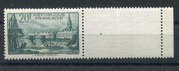 RC 15355 FRANCE N° 394 PORT DE SAINT MALO BORD DE FEUILLE COTE 100€ NEUF ** MNH TB - Frankreich