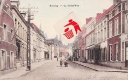 ANTOING - La Grand'Rue - Carte Colorée Et Animée - Antoing