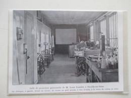 NEUILLY SUR SEINE (92) - Salle De Projection Relief De Louis Lumière    - Ancienne Coupure De Presse De 1935 - Projecteurs