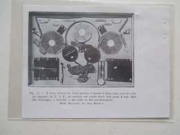 Jeux BOITE MACARADIO - Appareil TSF à Monter  Ets Des Jeux Réunis  - Ancienne Coupure De Presse De 1933 - Non Classés