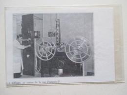 Paris Rue François Ier - Projecteur De Cinéma   - Ancienne Coupure De Presse De 1935 - Filmprojectoren