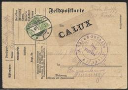 Luxembourg Luxemburg WK I Feldpost Nach Ettelbrück 21.01.19165 Taxe 5cts / Zensurstelle Trier - Taxes