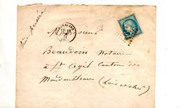Lettre Cachet Losange Remalard Sur Ceres Convoyeur + - Postmark Collection (Covers)