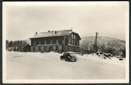 """Sainte-Marie-aux-Mines ( Haut-Rhin ) ~1920 """" Hotel Restaurant Belle Vue En Neige Avec Ancien Voiture """" - Sainte-Marie-aux-Mines"""
