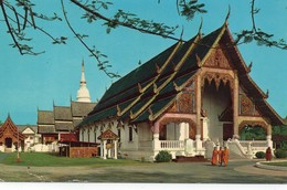 Chieng Mai Animée Wat Pra Sing Temple Bouddha - Thailand