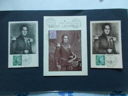 BELGIQUE -   Lot De 3 Cartes  Leopold 1er - N° 807 Obliteration 1/07/ 49  ( Voir Photo ) 74 - Maximumkaarten