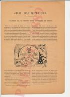 2 Scans Presse 1889 Jeu Du Sphinx Divination Voyance Cartomancie Hibou Jeu De Cartes 226CH28 - Vieux Papiers