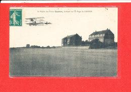 80 LE CROTOY Cpa Biplan CAUDRON Evoluant Sur La Plage Coll Fernand - Le Crotoy