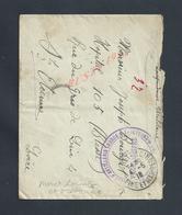 MILITARIA Lt FRANCHISE MILITAIRE Tp Art LOURDE TRACTEURS OB MORET LOING ET ORVANNE JOSEPH BOURGET Hpt 105 St ETIENNE   : - Guerra De 1914-18