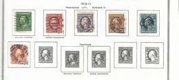 55446 ) Collection USA 1910 -11 - Sammlungen