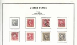 55451 ) Collection USA 1918 -20 - Sammlungen