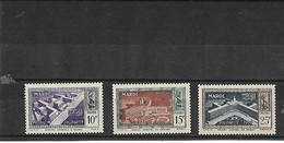 MAROC - 3 TIMBRES NEUFS 1950 SOLIDARITE - HOPITAL LOUSTAU à OUJDA , NOUVEAU HOPITAL MEKNES ET RABAT - Morocco (1891-1956)