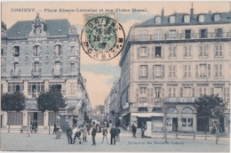 Bv - Cpa LORIENT - Place Alsace Lorraine Et Rue Victor Massé - Lorient