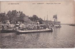 Bv - Cpa LORIENT - Départ Pour Port Louis - Lorient